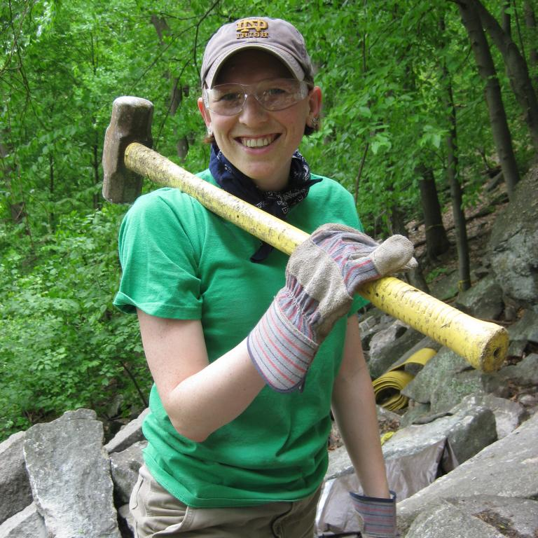 Trail Conference volunteer Allegra Matthews. Photo by Allegra Matthews.