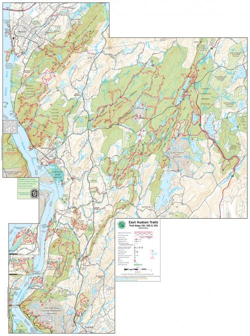 East Hudson Trails Map 2018: Combined Avenza Maps app map