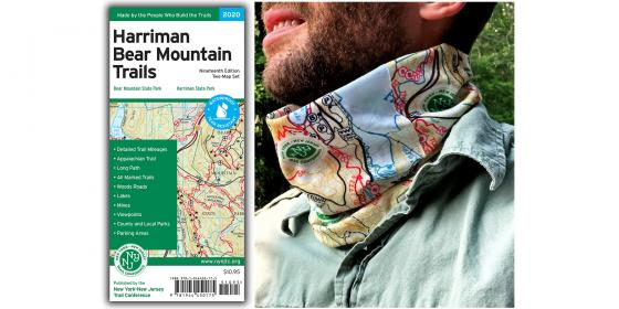 Harriman-Bear Mountain Map and Neck Gaiter Combo