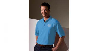 Blue Polo Shirt with Trail Conference Logo